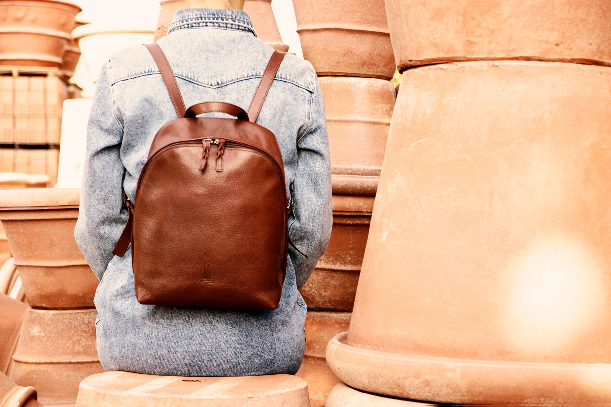 Backpack Toscanella Italian leather