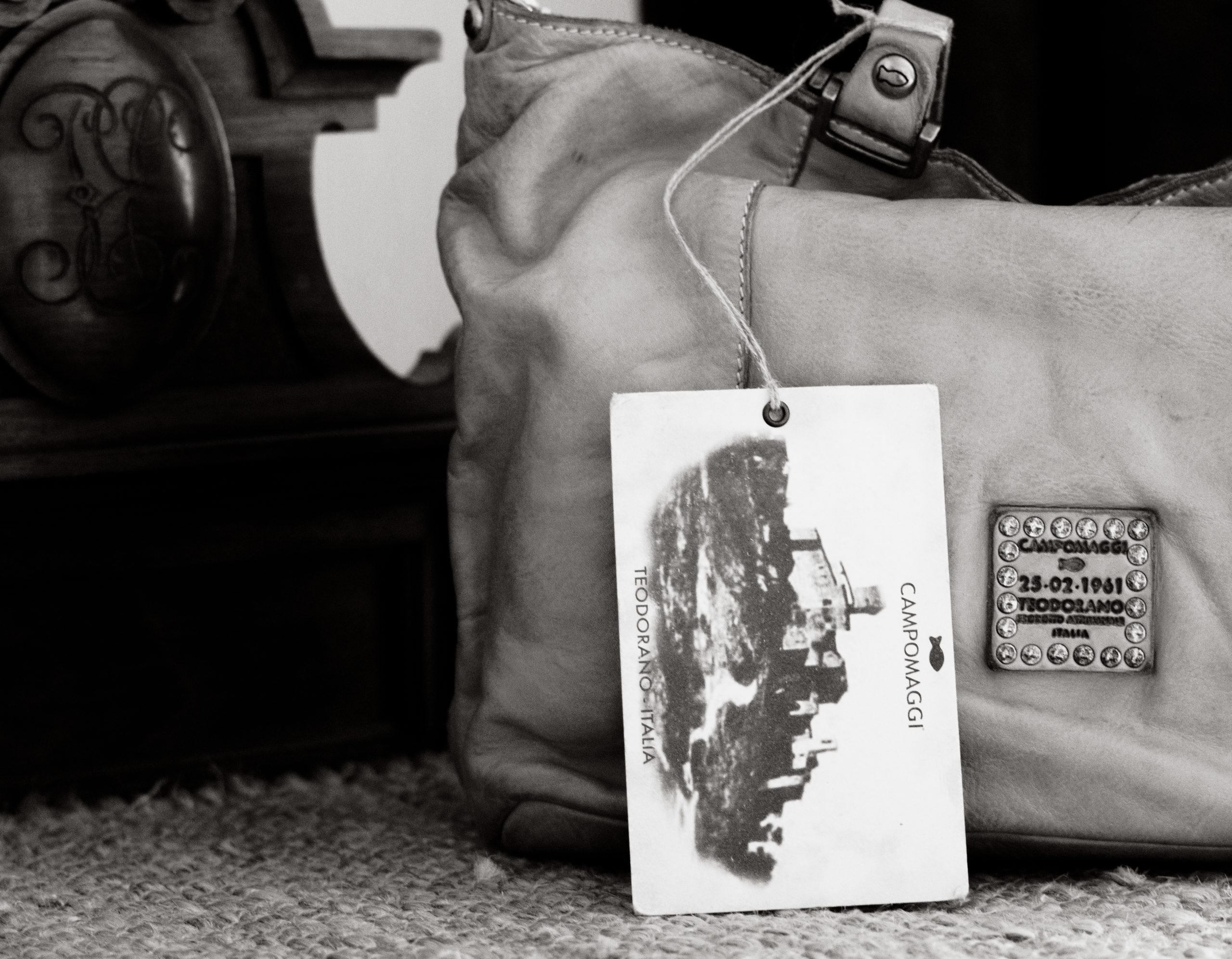 CAMPOMAGGI Shopping Bag in Whitened Weaving – Edera C011580ND